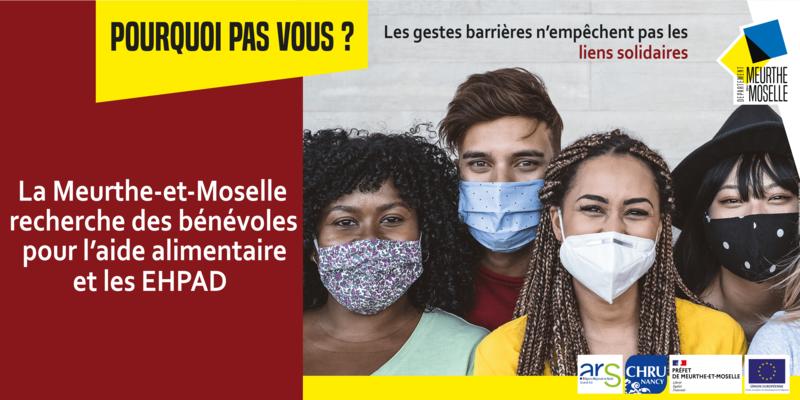 Illustration pour l'actualité La Meurthe-et-Moselle recherche des bénévoles pour l'aide alimentaire et les EHPAD
