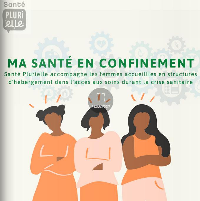 Illustration pour l'actualité Le programme «ma santé en confinement»: Confinées en bonne santé