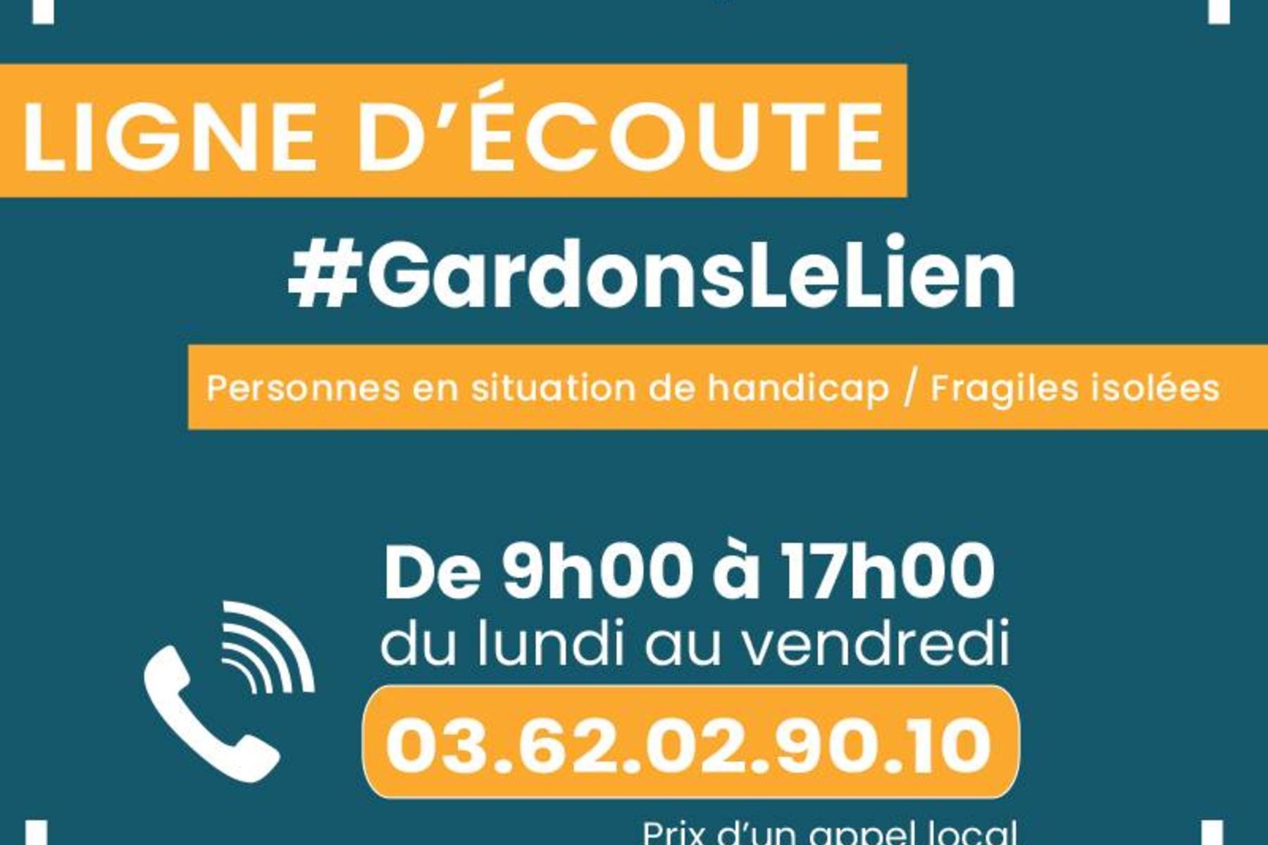 Illustration pour l'actualité Ligne d'écoute. APF France Handicap