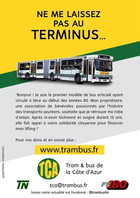 Illustration pour l'actualité Lancement d'une souscription pour repeindre un bus niçois
