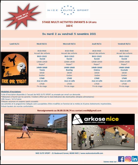 Illustration pour l'actualité Stage enfants multi-activités de Toussaint