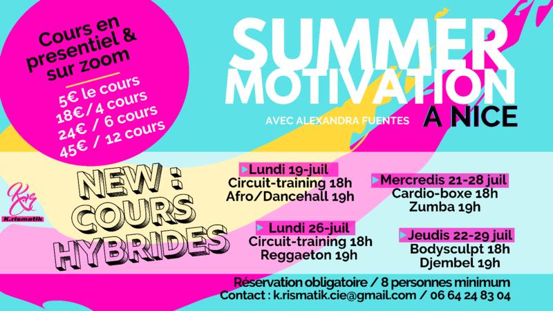 Illustration pour l'actualité SUMMER MOTIVATION - cours de danse et fitness