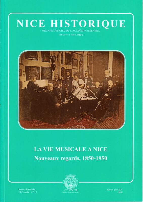 Illustration pour l'actualité LA VIE MUSICALE A NICE Nouveaux regards, 1850-1950
