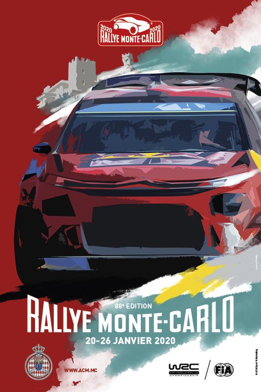 Illustration pour l'actualité La 88e Edition du Rallye Monte-Carlo WRC 2020