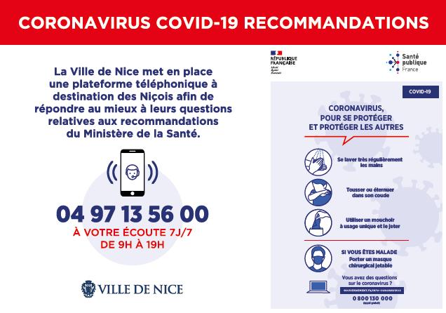 Illustration pour l'actualité Coronavirus COVID-19 Recommandations