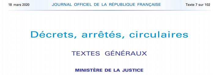 Illustration pour l'actualité Décrets, arrêtés, circulaires. Ministère de la Justice.