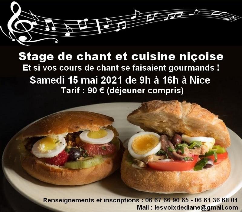 Illustration pour l'actualité Stage de chant et de cuisine niçoise à Nice