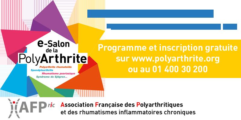 Illustration pour l'actualité e-Salon de la PolyArthrite du 11 au 16 octobre 2021
