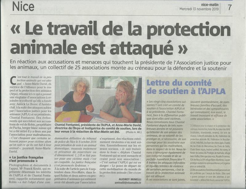 Illustration pour l'actualité Le travail de la protection animale attaqué