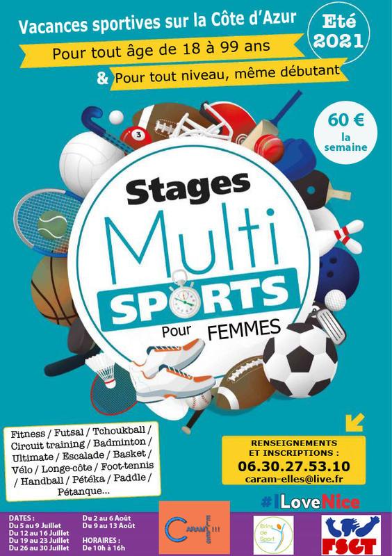 Illustration pour l'actualité Stages Multisports pour Femmes pendant l'été
