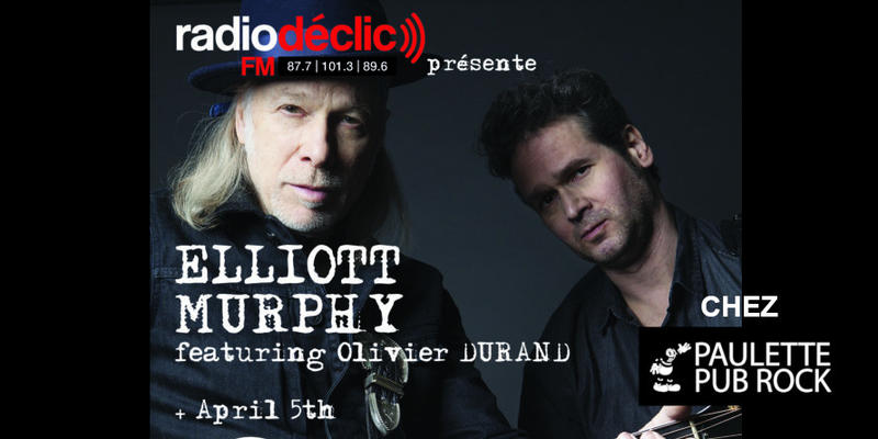 Illustration pour l'actualité [Concert] Elliott Murphy & Olivier Durand + April 5th