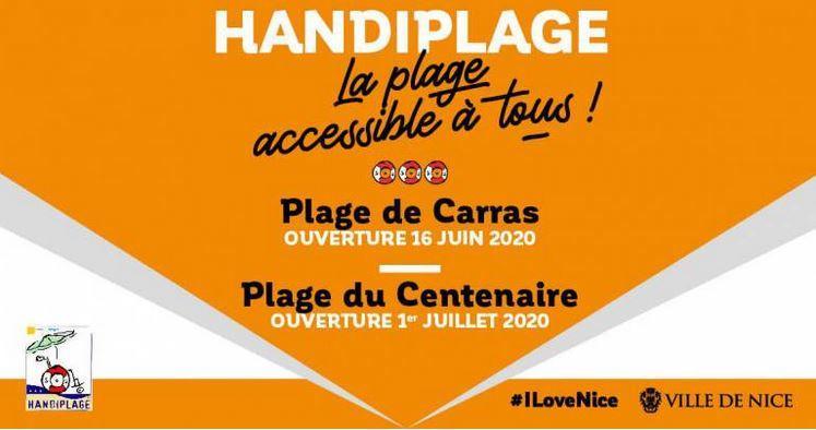 Illustration pour l'actualité Ouverture des Handiplages à Nice
