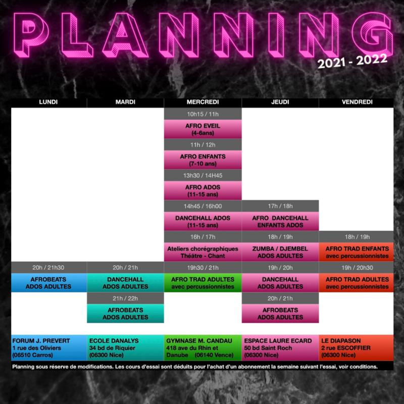 Illustration pour l'actualité Cours de danses saison 2021-2022