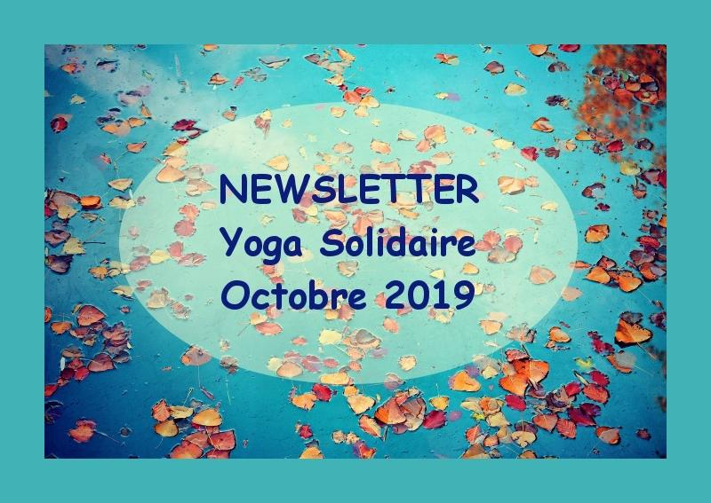 Illustration pour l'actualité Newsletter de l'association Yoga solidaire : octobre 2019