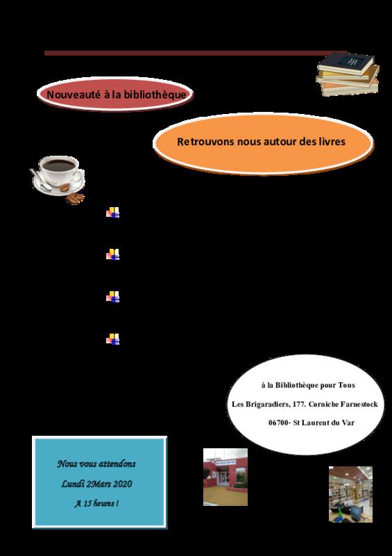 Illustration pour l'actualité Café Litéraire