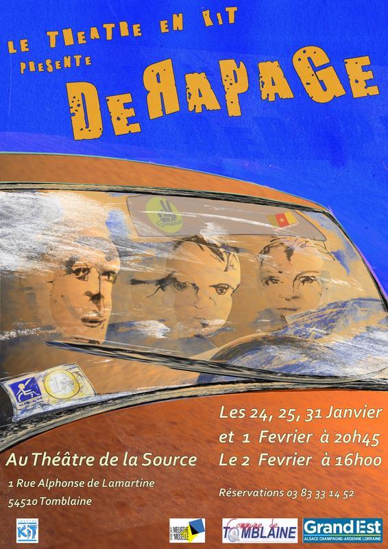 """Illustration pour l'actualité Le théâtre en Kit présente """"DERAPAGE"""""""