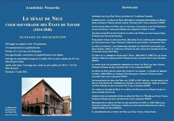 Illustration pour l'actualité 400 ans de la fondation du Sénat de Nice