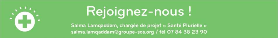 """Bouton """"rejoignez-nous"""". Redirection vers le formulaire d'inscription au réseau Santé Plurielle"""