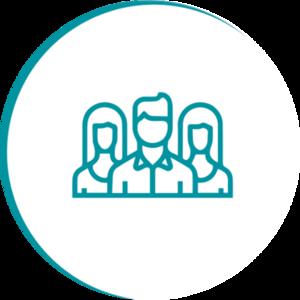 Illustration pour 'association icon round'
