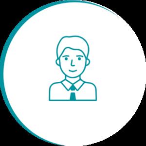 Illustration pour 'user icon round'