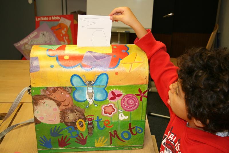 Illustration pour la mission La boîte à mots