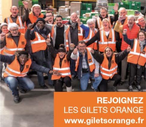 """Illustration pour la mission Devenez """"Gilets Orange"""" pour la Banque Alimentaire !"""