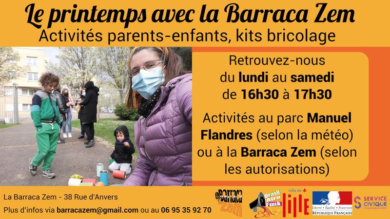 Illustration pour la mission La Barraca Zem -  actions de quartier parent-enfants