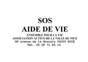 Logo de l'association SOS AIDE DE VIE