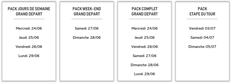 Descriptif des 4 Packs de missions Tour de France 2020