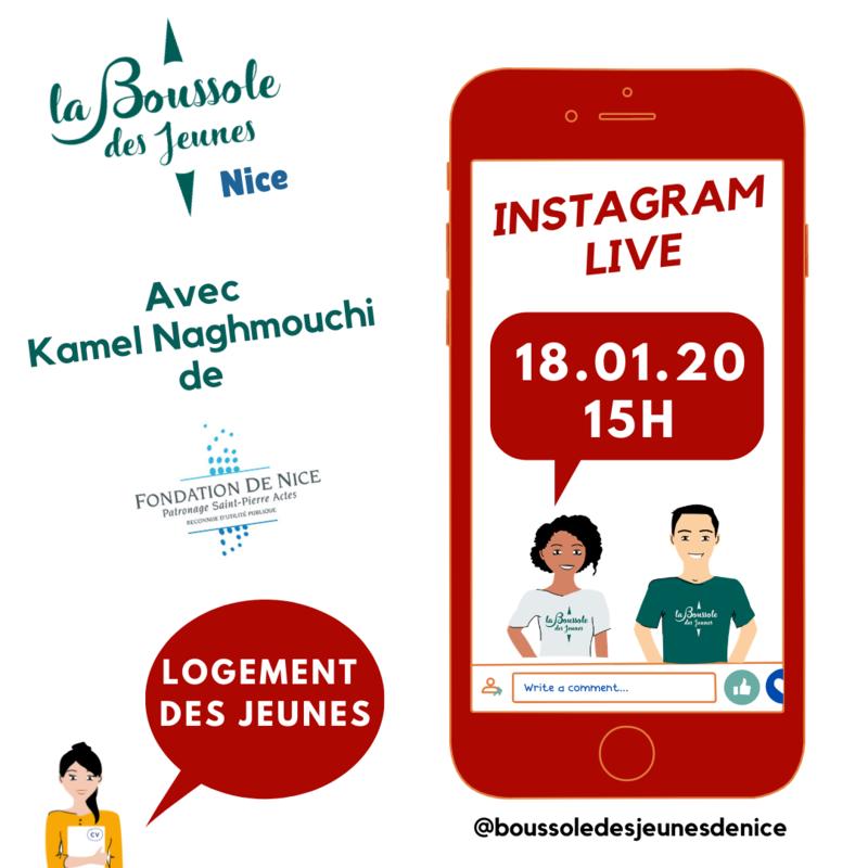 Illustration pour l'événement InstaLive Logement avec la Fondation de Nice