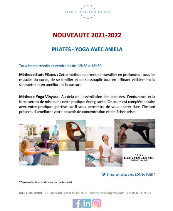 Illustration pour l'événement Cours de Pilates-Yoga chez NICE ELITE SPORT