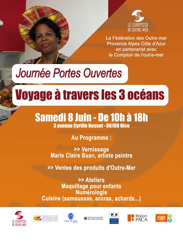 Illustration pour l'événement Journée Portes Ouvertes - Voyage à travers les 3 océans