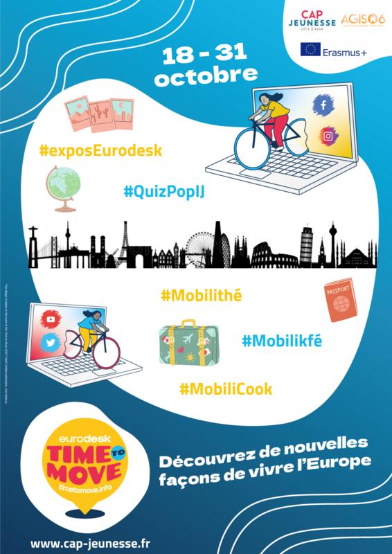 Illustration pour l'événement Time to Move :Découvre de nouvelles façons de vivre l'Europe