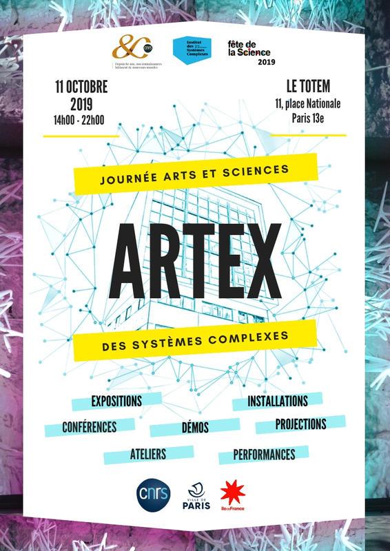 Illustration pour l'événement ARTEX, Journée Arts et Sciences des Systèmes Complexes