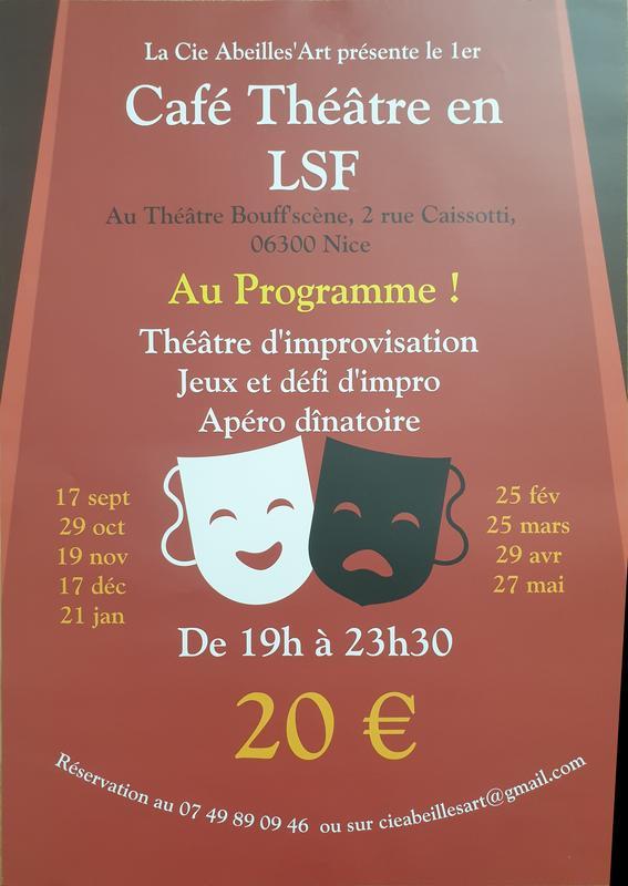 Illustration pour l'événement Café théâtre en LSF