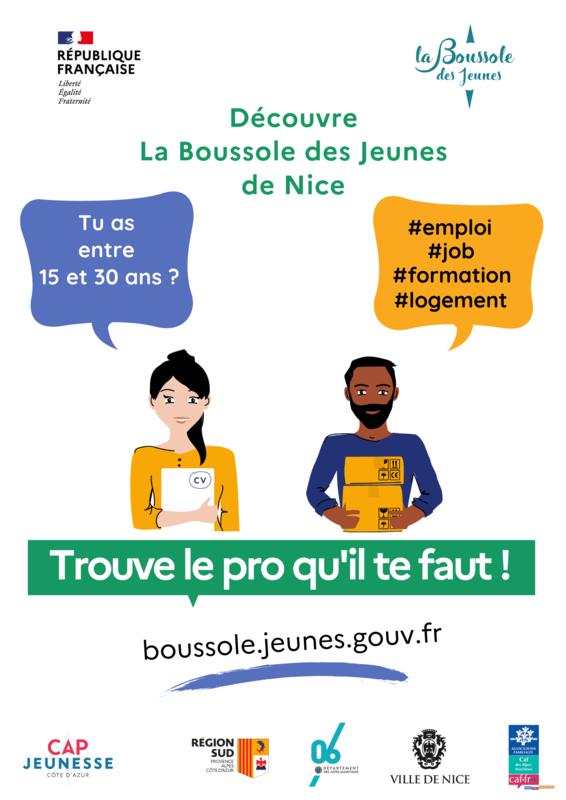 Illustration pour l'événement Lancement de la Boussole des Jeunes de Nice le 24 juin à 10h