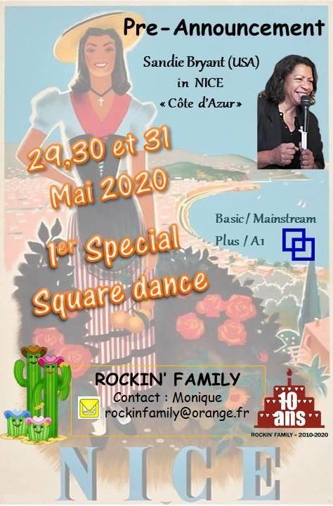 """Illustration pour l'événement 1er Special de SQUARE DANCE """"Nice Côte d'Azur"""""""