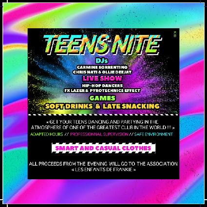 Illustration pour l'événement Teens Nite!