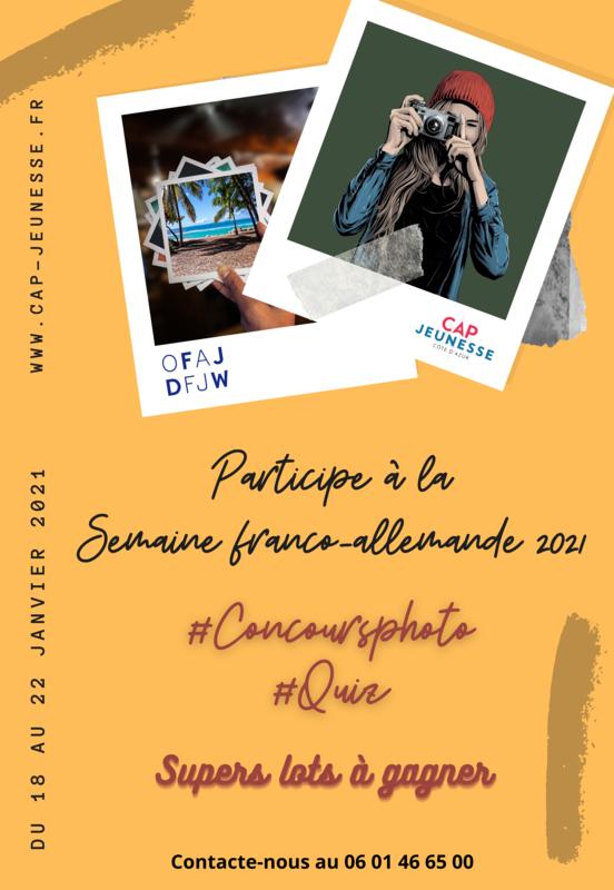 Illustration pour l'événement Concours photo et quiz pour le Semaine franco-allemande 2021
