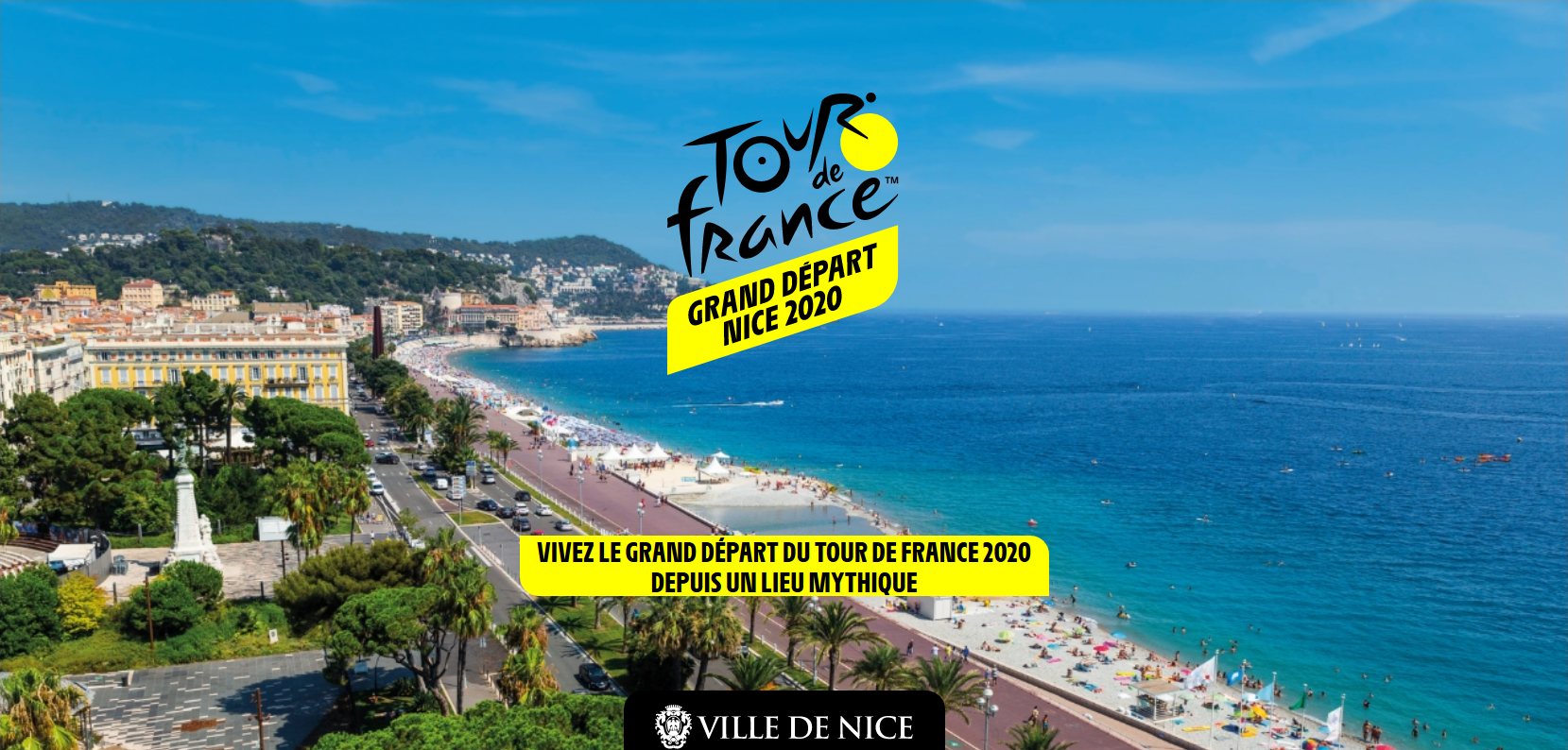 Illustration pour la mission Grand Départ du Tour de France 2020 à Nice
